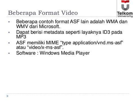 format wma adalah slide minggu 9 video