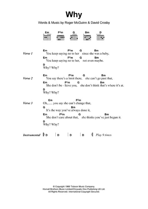 the byrds christmas songs why sheet by the byrds lyrics chords 119147