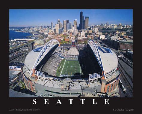 centurylink stadium seattle seahawks aerial print