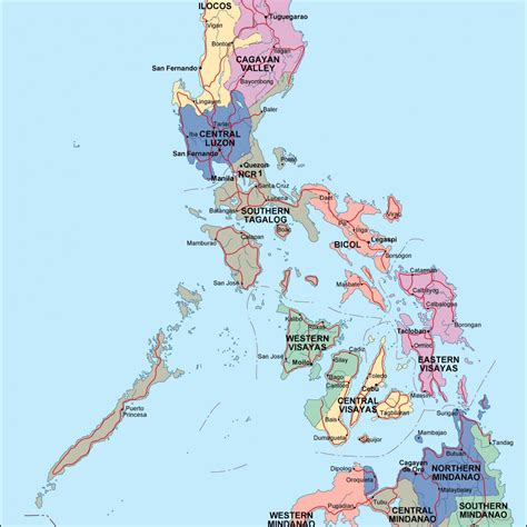 map of phillipines philippines map eps