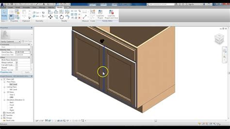 revit kitchen cabinets revit family creation kitchen base cabinet modified to