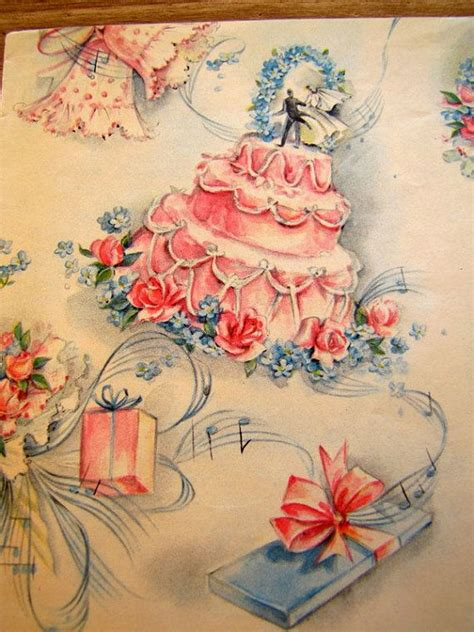 Wedding Wrapping Paper by Vintage Wedding Wrapping Paper Retro Gift