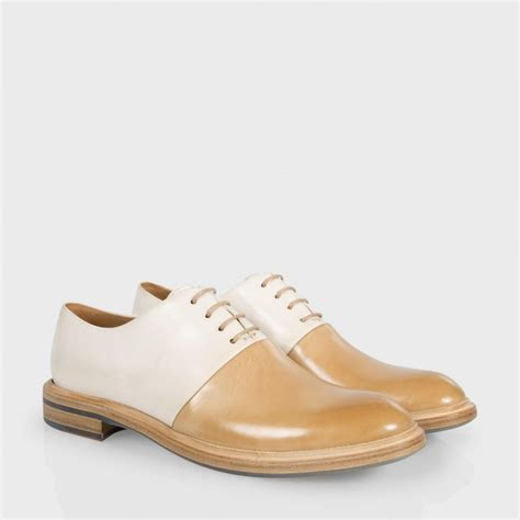 sneakers with soles lyst paul smith s ecru and leather isaac