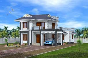 Home Exterior Design Models 3bhk 3 8 Keralahouseplanner