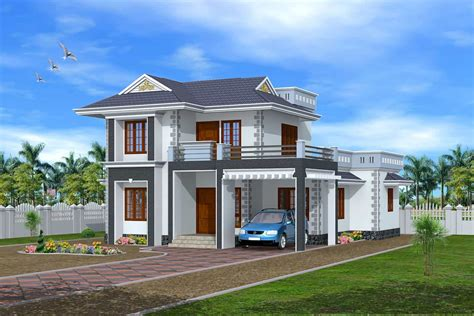 house design ideas 3d 3d exterior design kerala house