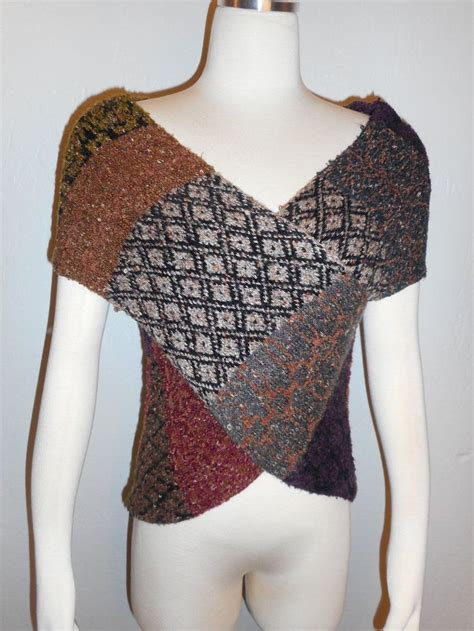 Vintage Cardigan Knit Rajut Sweater Outer Cardi Wanita pullover wrap around sweater vest handwoven sz s multi colored expensive warm ebay curio new