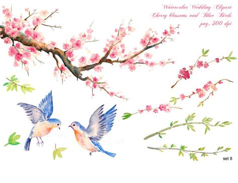 Birds Wedding Clipart by Wedding Clipart Cherry Blue Birds Graphics Creative Market