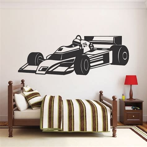 race car wall stickers race car wall decal sports car stickers trendy