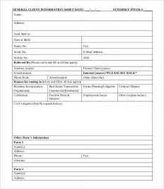 Client Information Form Template Free by Client Information Sheet Template 9 Free Word Pdf