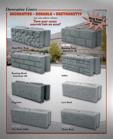 Leonard Marr Inc Decorative Concrete Wall Forms