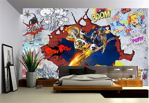 custom photo  wallpaper  woven mural wall sticker
