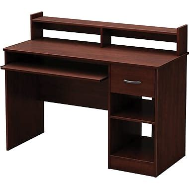 computer desk staples south shore metro computer desk royal cherry staples 174