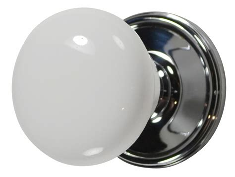 Porcelain Door Knobs White Porcelain Door Knob Polished Chrome Plate