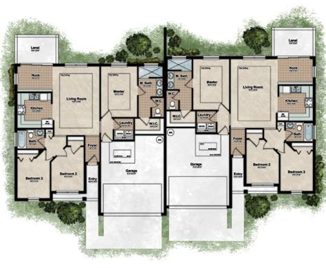 duplex home floor plans 25 best ideas about duplex house plans on pinterest