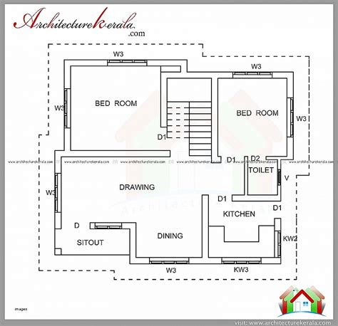home design for 1200 square feet house plan best of 2 bedroom house plans kerala style