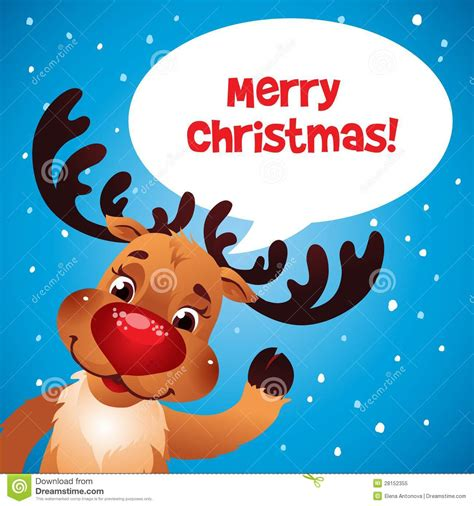 christmas reindeer red nose royalty free stock photo