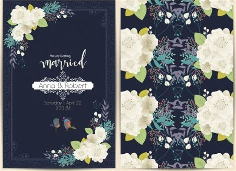 Wedding card design template free vector download (24,030