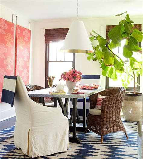 nautical dining room as seen in better homes and