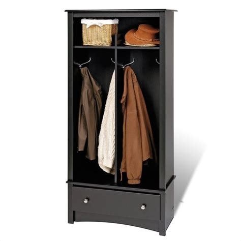 entryway coat rack prepac black sonoma entryway package w cubby bench coat
