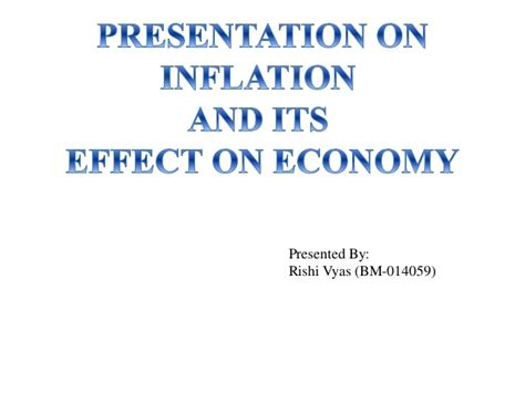 Mba Ppt On Inflation by Inflation Effects On Economy