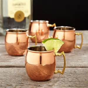 Copper Moscow Mule Shot Glasses - The Green Head