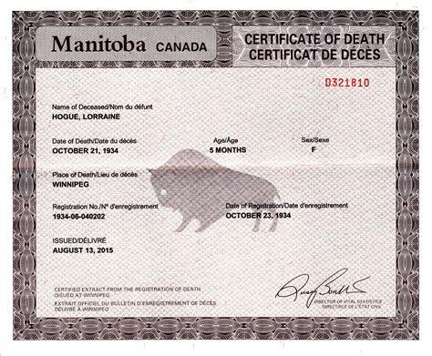 Canada birth marriage death index