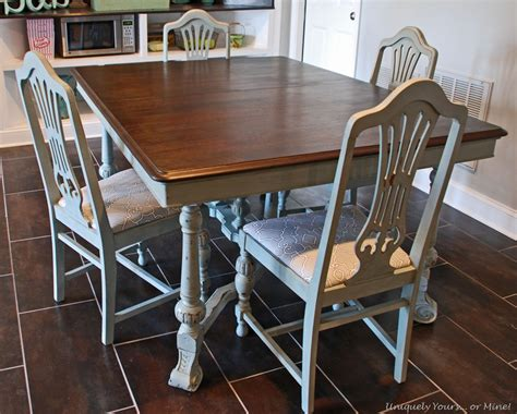 paint dining room table painted vintage dining table