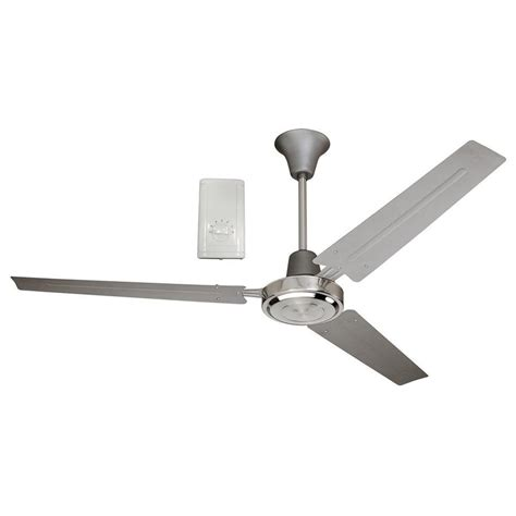 harbor breeze 3 blade fan shop harbor breeze 56 in titanium and brushed chrome