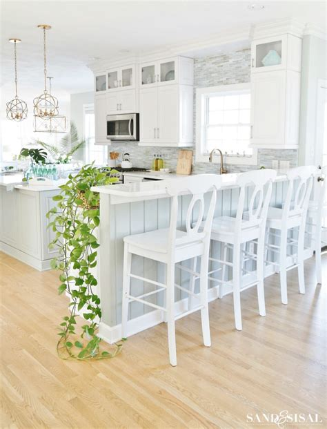 coastal dining room makeover sand and sisal coastal kitchen decorating ideas for spring sand and sisal