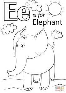 coloring pages for letter e letter e is for elephant coloring page free printable
