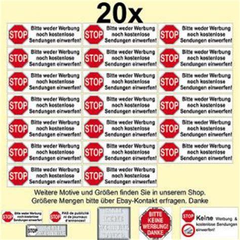 Sticker Keine Unadressierte Werbung by Aufkleber Bitte Keine Werbung G 252 Nstig Kaufen Yatego