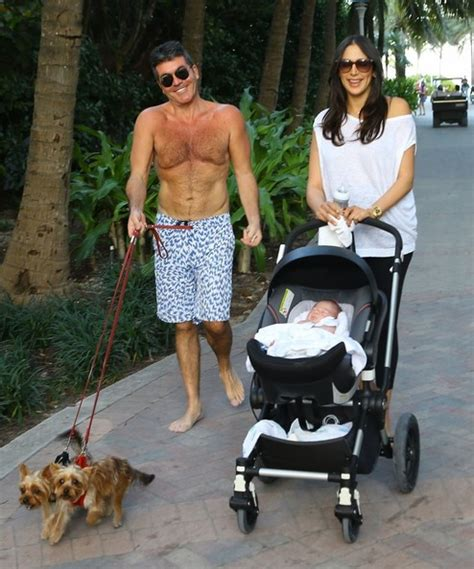 simon cowell and lauren silverman leave baby eric at home eric cowell photos photos simon cowell and lauren
