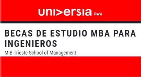 Mib Trieste School Of Management Mba by Universidad Nacional De Ingenier 237 A Becas De Estudio Mba