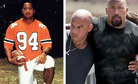 dwayne the rock johnson then and now these 28 actors all started out as professional athletes