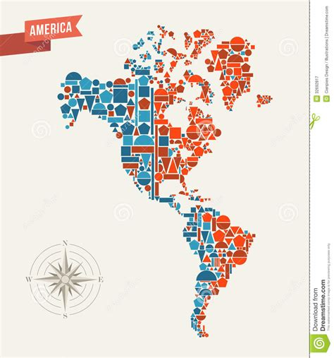 map of america vector america abstract map royalty free stock photography
