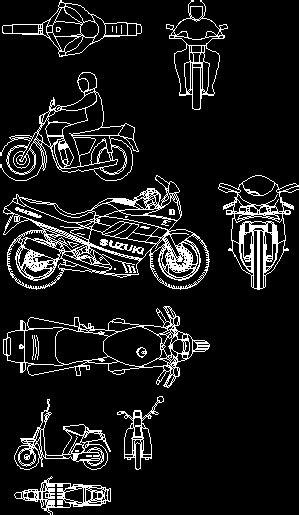 bikes dwg plan  autocad designs cad