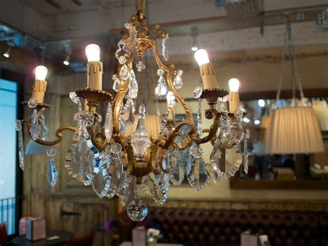 Chandeliers New Jersey Restaurant Cafe Interior Design Furnished With Looking Chandelier Photo The Bayonne