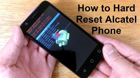 reset android one how to reset an alcatel how to hard reset alcatel one