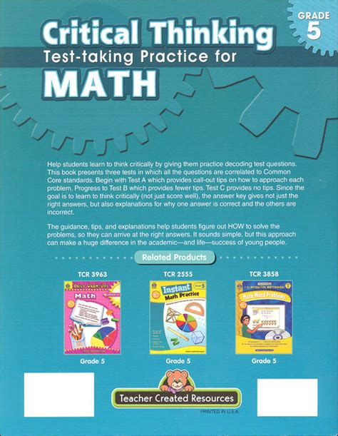 parcc test prep 5th grade math practice workbook and length assessments parcc study guide books math sle test for grade 5 critical thinking test