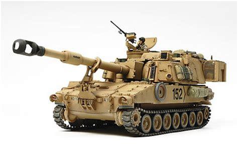 Famo Accessories Brown us howitzer m109a6 paladin tank plastic model