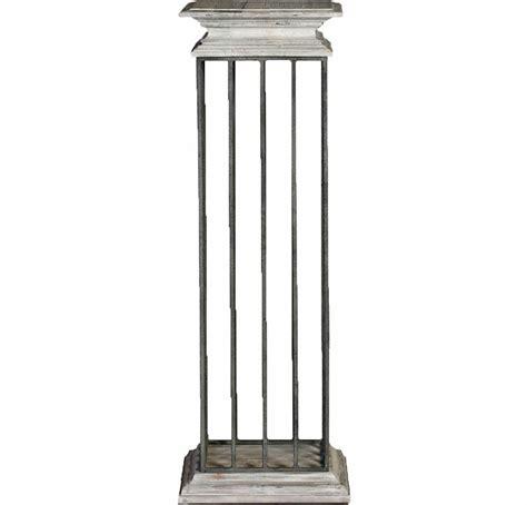 White Column Pedestal Hton Country Architectural Column Gray White