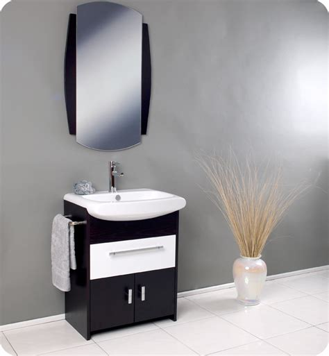 22 Inch Bathroom Vanities Fresca Distinto Modern Bathroom Vanity With Dark Wood