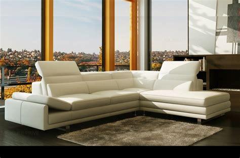 Canape D Angle En Cuir Blanc