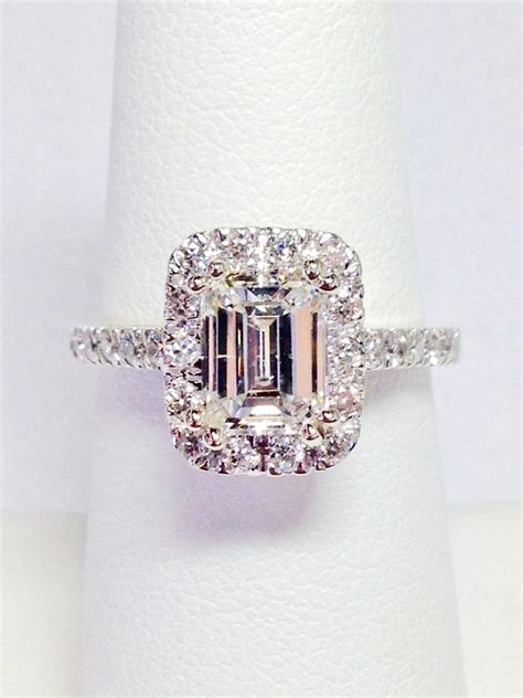Wedding Ring You Can T Cut by 1 00ct Emerald Cut Halo Engagement Ring