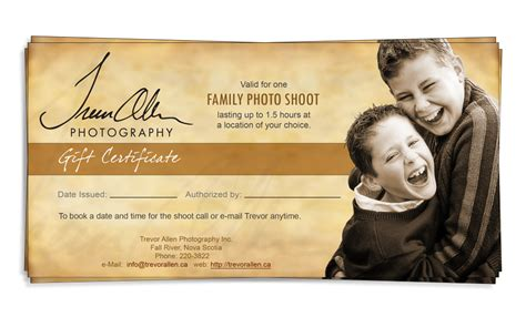 gift certificate template for photographers new calendar