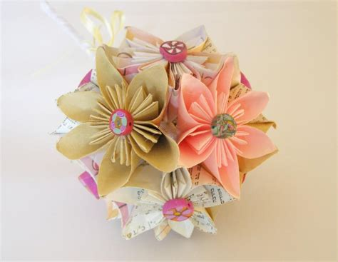 Handmade Flower Bouquets - paper flower bouquet paper wedding bouquet bridal