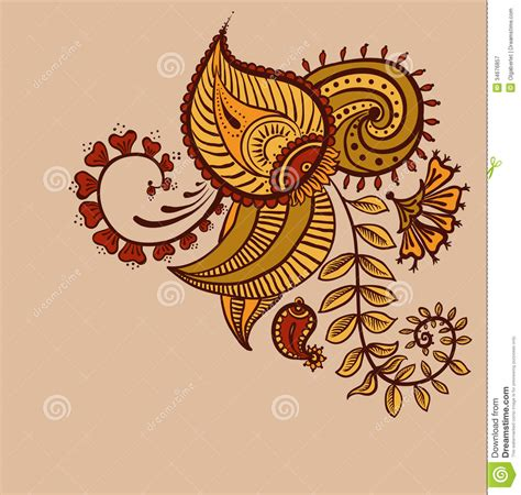 floral paisley design stock vector illustration of lace