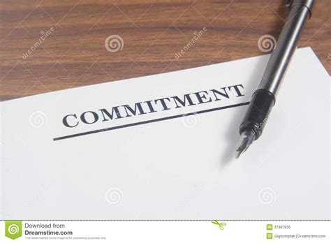Commitment Period In Letter Of Credit commitment letter royalty free stock photo image 37987935