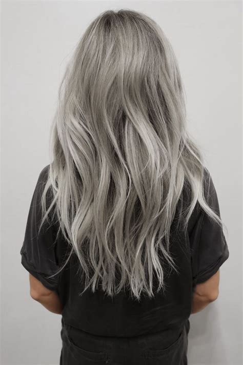 silvery blonde hair color silver hair dye on blonde hair nail art styling