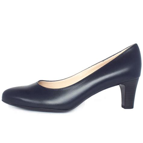 in shoes kaiser navy leather court shoes mozimo